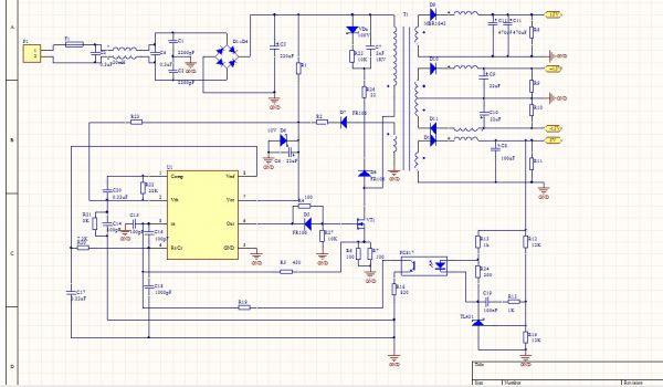 3843开关电源电路图