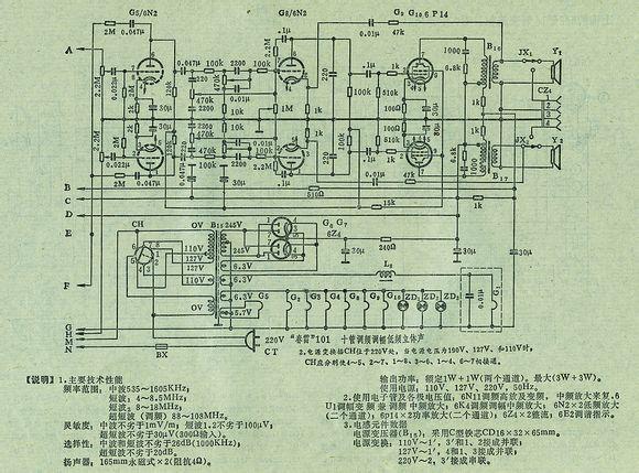 电子管收音机电路图集