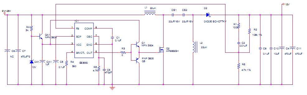 7v降压1.5v电路图