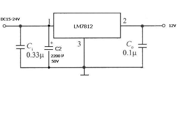 7812稳压电源电路图
