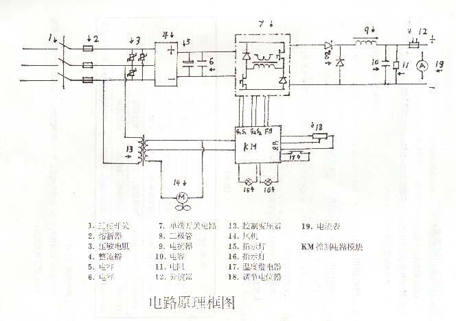 简单逆变电焊机电路图