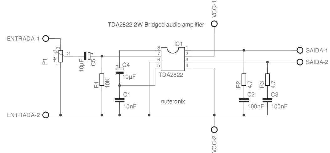 2822功放电路图