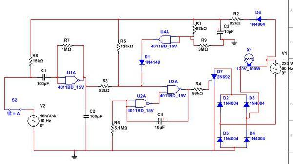 声光控制灯感应电路图