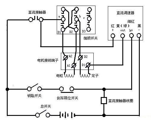 电动三轮车电路图