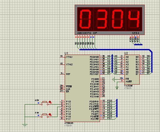 简易数字钟设计电路图