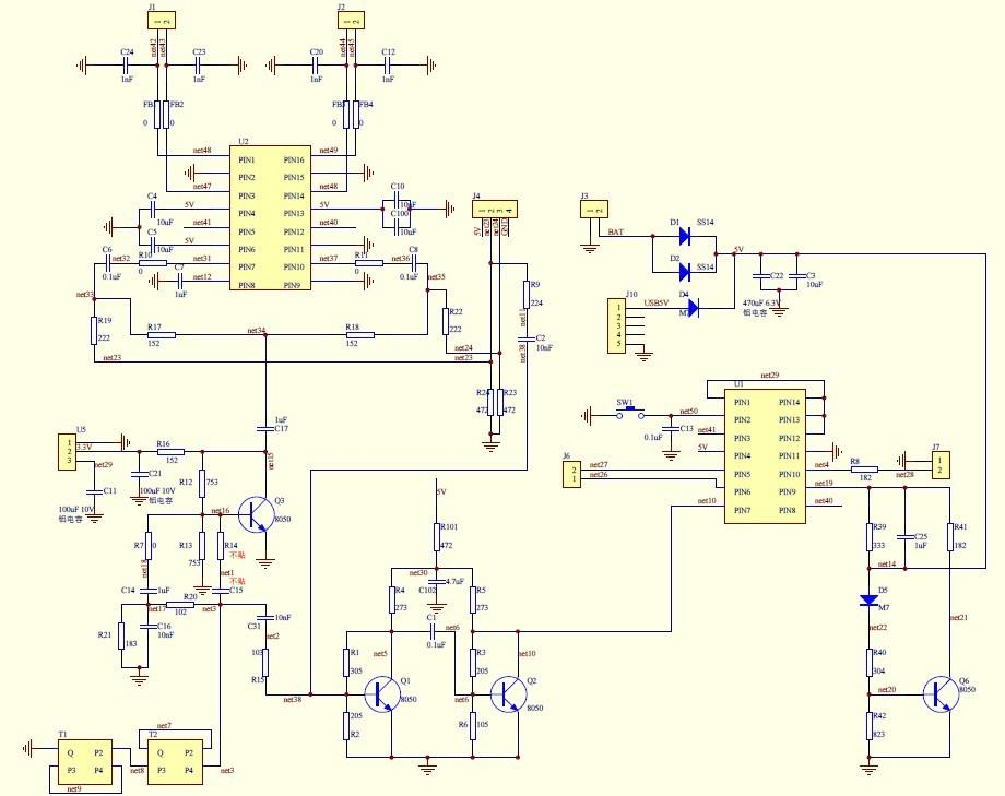 蓝牙音箱设计电路图
