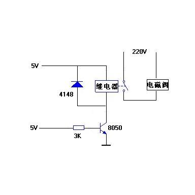 单片机控制继电器电路原理图